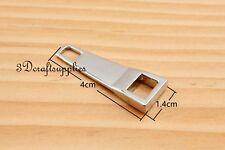 #5 zipper pull zinc zipper puller Standard style silver 4cm x 1.4cm 8 pcs H101