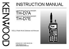 Kenwood THD-7 Transceiver Owners Instruction Manual