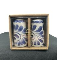 Pottery Barn PUEBLA Salt & Pepper Shakers Set NEW
