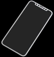 iPhone X Display Schutz Glas 3D 9H Tempered Glas Folie Weiss