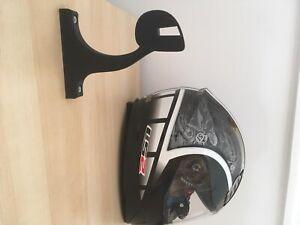 Motorcycle Helmet Holder Man Cave Storage Helmet Hanger Rack Wall Mount Garage