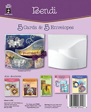 BENDI DIE-CUT CARDS & ENVELOPES-Greeting Card-Paper Craft-Blank Templates