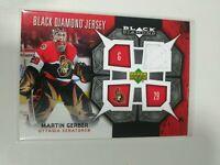 2007-08 Upper Deck Black Diamond Jersey Martin Gerber Ottawa Senators BDJ-GE