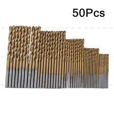 50x HSS forets 1-3mm Titane Acier Forage Perceuse Revêtu Drill Bits Outil Fraise