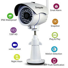 Sumpple 720P Wireless/Wired Digital Outdoor/Indoor IP Network Camera White
