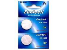 2 x EUNICELL CR2025 BATTERIES FOR RENAULT CARD MEGANE REMOTE KEY FOBS