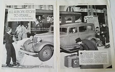 1933 DeSoto Car Skiing Ski Skiis at St. Moritz Two Page  Original Ad