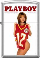 Zippo Playboy October 1996 Cover Satin Chrome Windproof Lighter NEW RARE