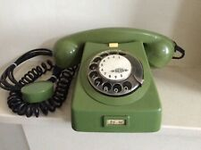 More details for vintage mechanikai muvek hungarian rotary dial telephone in green