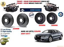 para AUDI A5 2.7tdi Coupe 07-12 Delantero Trasero Rendimiento Juego discos freno