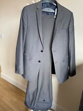 Mens suit Burton superskinny with stretch 36 R jacket 32R trousers charcoal grey