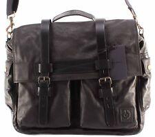Borsa Tracolla Uomo BELSTAFF 75610375 Colonial Messenger Bag Man Black Leather