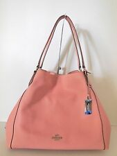 COACH 33547 PINK REFINED PEBBLED LEATHER EDIE SHOULDER BAG