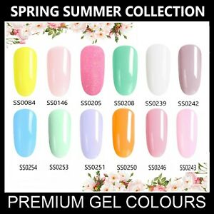 Spring Summer Nail Gel Polish CANNI UV LED Set Colour Varnish Glitter Coat 7.3ml