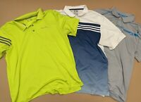 Lot Of 3 Mens ADIDAS CLIMACOOL Short Sleeve Golf Polo Shirts Size XL
