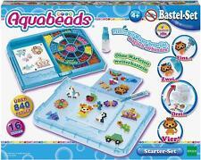 Epoch Aquabeads 31399 Starter Set Blau, Kinder Bastelset -
