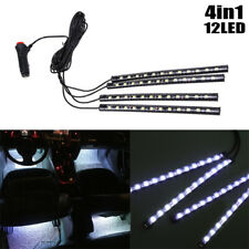 12 LED Blue Car Interior Accessories Floor Decorative Atmosphere Lamp Light 4x