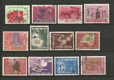 Vietnam du Sud 1965/66 12 timbres oblitérés /TR356
