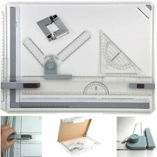 A3 Drawing Board Table With Parallel Motion&Adjustable Angle Office w/Carry Bag