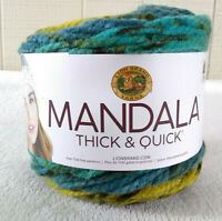 Lion Brand Mandala Thick and Quick Yarn Begonia Super Bulky 6 Acrylic