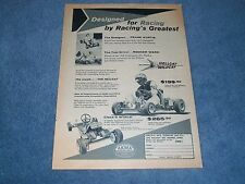 "1960 Hellcat & Wildcat Kart Vintage Ad ""Designed for Racing by Racing's Greatest"