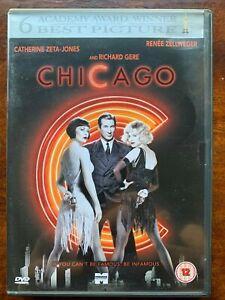 Chicago DVD 2002 Musical Movie Classic w/ Renee Zellweger + Richard Gere