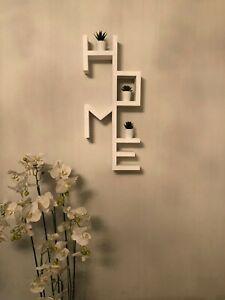 Scritta mensola home legno design moderno libreria Decorazioni Arredamento Casa
