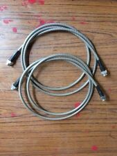 Land Rover extra long braid front brake hoses 1.65m to run up the radius arms D1
