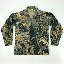 Cabelas Hunting Shirt Youth Size 14 Long Sleeve Camouflage Button Up Made in USA