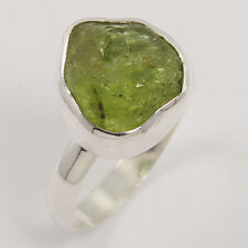 Wholesale Price 925 Sterling Silver Ring Size US 8.75 Natural PERIDOT Gemstone