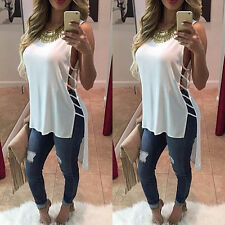 Sexy Fashion Womens Summer Loose Sleeveless Casual Tank T-Shirt Blouse Tops Vest