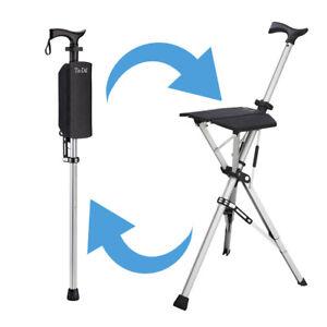 Ta Da Seat Stick / Chair - the walking cane that converts to a tripod chair