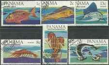 Timbres Faune marine Panama 421/2 PA370/3 o lot 28497