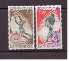 Congo (Brazzaville) MNH 1973 Football World Cup set mint stamps