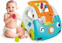Infantino 3 In 1 Sensory Discovery Car Push Along Learning with Sound Blue 6-36m