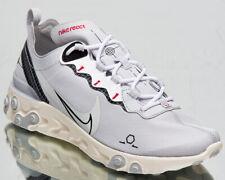 Nike React Element 55 Men's Pure Platinum Black Sail Lifestyle Sneakers Shoes