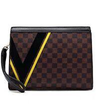Designer Inspired  checkerboard Clutch bag/Shoulder bag with wristlet