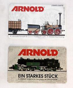 Arnold Modelleisenbahn Nürnberg, 2 x Telefonkarten,                     #ab1200