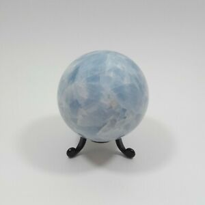 Blue Calcite SPHERE 472g Polished Hand-shaped Natural Crystal Ball  69mm  S0255