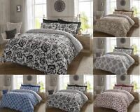 Luxury Micro Printed Polyester Cotton Quilt Duvet Cover Pillow Cases Set