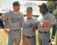 Tommy Lasorda & Kirk Gibson Signed Dodgers 11x14 Photo *1988 WS Champs Beckett