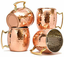Copper Mug Set Of 4 Nickle Lining Tea Coffee Juice Wine Vodka Cup cocktail Mug