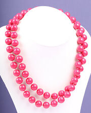 Red/Pink Plastic Bead Necklace, Vintage 1950s
