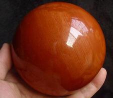 "3.5LB 3.9"" NICE NATURAL RED JASPER QUARTZ CRYSTAL SPHERE BALL HEALING Africa"