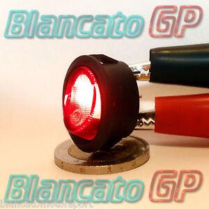 INTERRUTTORE a BILANCIERE OVALE SPIA 12V DC ROSSO auto moto camper rocker switch