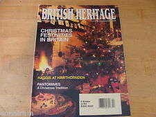 British Heritage Magazine Dec 1992 Jan 1993 Haggis Pantomimes Lord Tennyson
