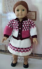 "Blocked Pinks Sweater Skirt SET Clothes for 18"" American Girl Doll Wow Seelction"