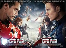 "Captain America - Civil War ( 11"" x 16.5"" ) Movie Poster Print (T3) - B2G1F"