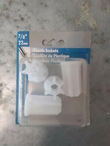 "Shepherd Hardware 7/8"" / 22mm Plastic Sockets - Chair Table Repair Furniture"