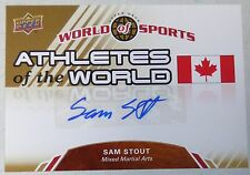 Sam Stout Signed 2010 Upper Deck Athletes of the World of Sports Card UFC Auto'd
